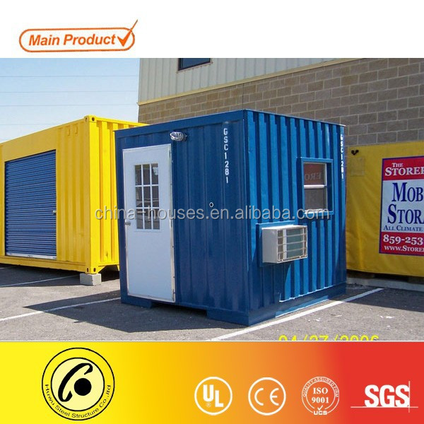 10ft converted container shop with beautiful door and AC units