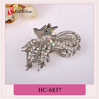 2015 New design low price jeweled claw clip