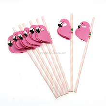 Flamingo Decoration Drinking Party Straw
