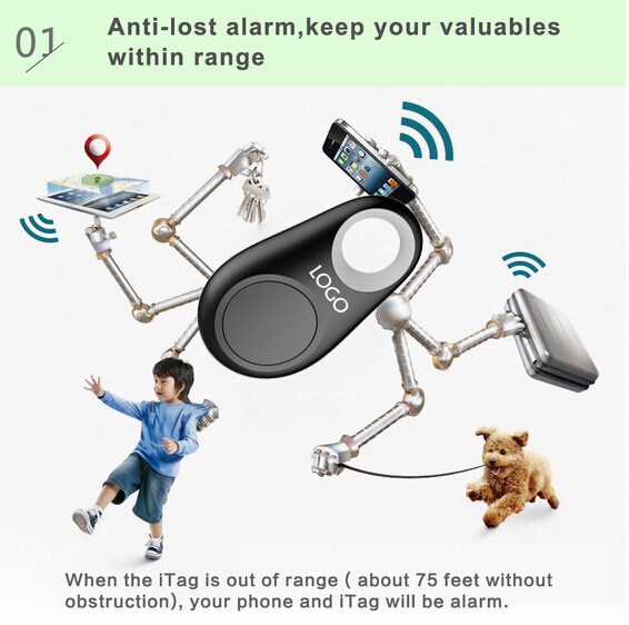 Mini fitness pet dog samrt bluetooth tracker for wallet/kids/pet