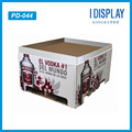 Supermarket cardboard pallet display rack with advertising for energy drink/battle water