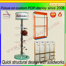 floor wire holder supermerket basketball display rack