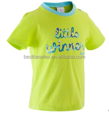Baby's Unisex 100% Cotton Short Sleeve Shirt Lime