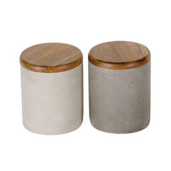 Wedding decoration candle tin container candle jar with wooden cover