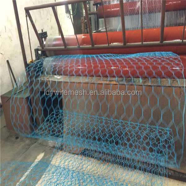 BLUE PVC PLASTIC COATED Hexagonal Wire Netting/ Poultry Fenceing/ Rabbit Cages/ Chicken Wire Mesh
