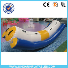 Good quality water park game inflatables single tube water totter