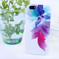 Elegant flower pattern PC IMD case for Apple iphone 5 phone accessories