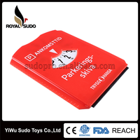 Promotional plastic car parking disc with ice scraper/parking timer