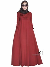 2017 Islamic Womens Clothing Online Dress Crepe Abaya Muslim with flowers