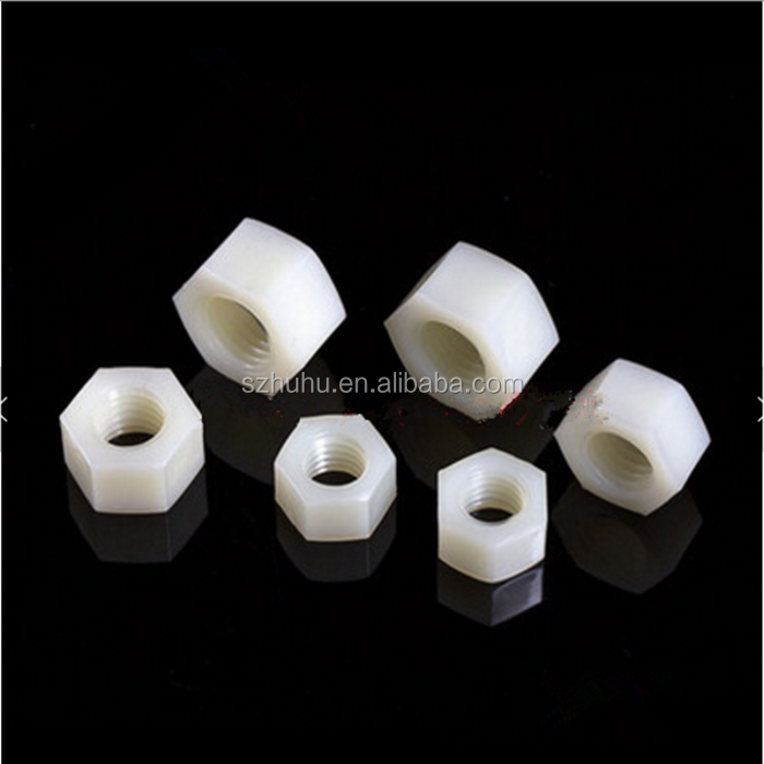 <strong>M10</strong> Nylon Hex Nut DIN934 Plastic Hexagon Nuts Metric White Color