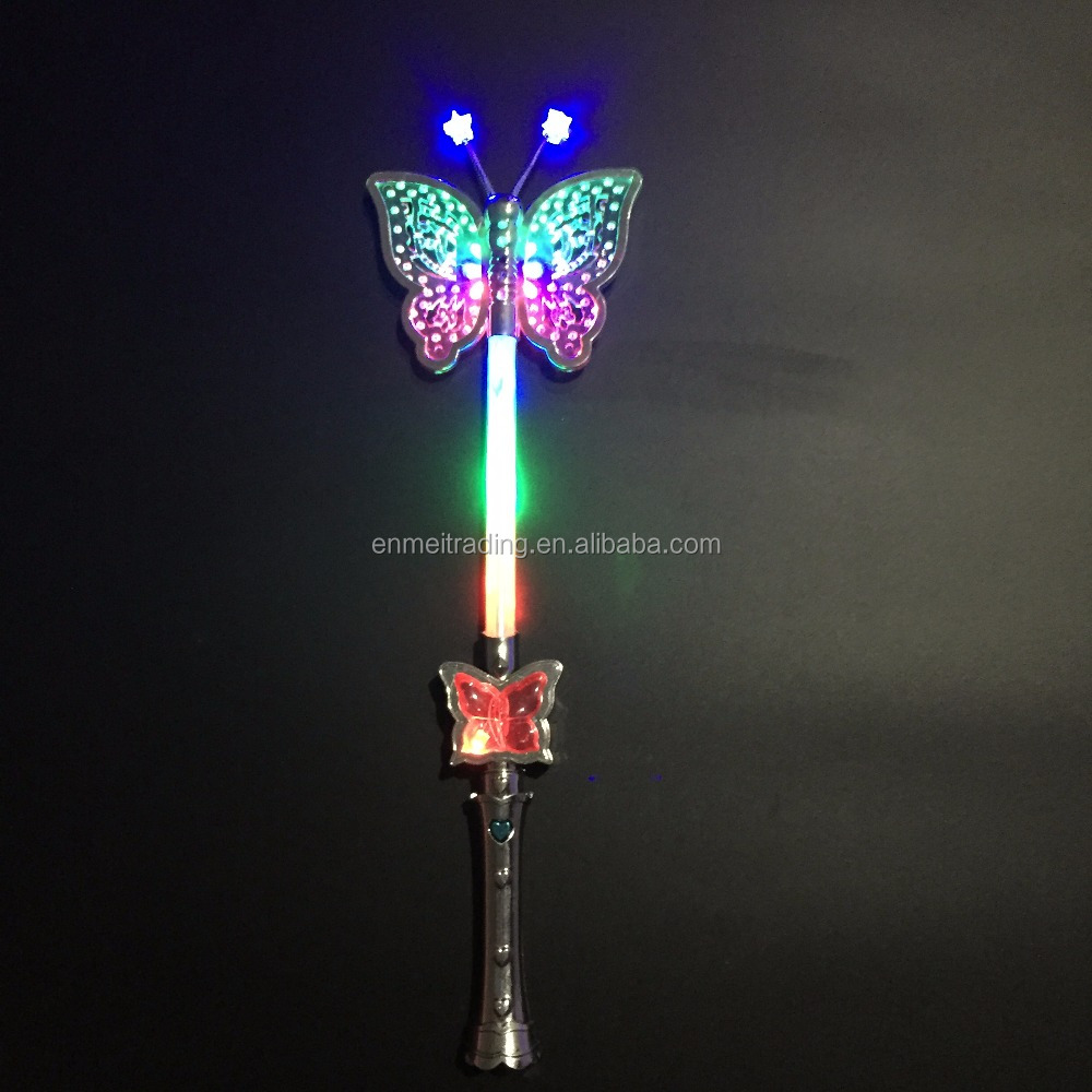 Light Up Buuterfly Wand with Flashing lights and Patterns for Christmas Eve