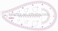 Kearing#6460,Plastic Templates Ruler,Drawing Stencil,french curve sewing patternmaster fabric