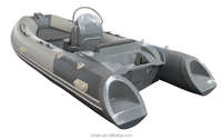 Rigid Hull Fiberglass Inflatable Boat RIB390C, 3.9m, 6 person PVC or Hypalon