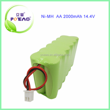 Vacuum cleaner used 14.4v 2000mah nimh aa battery pack