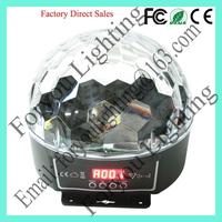 Economic exported 6*1w rgbwap leds disco effect light led crystal ball