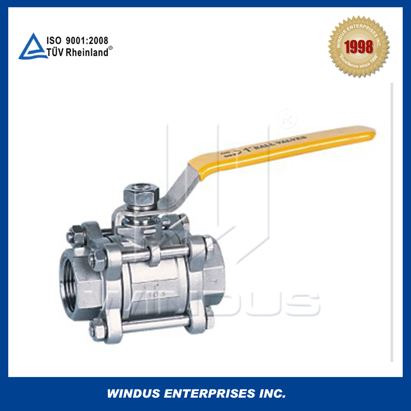 China high quality stainless steel Three piece ball valve