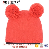 women winter beanie hat with earflaps pattern