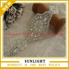 wholesale wedding dress rhinestone applique for sash