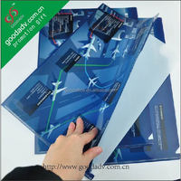 Office stationery file folder / clear plastic document holder / plastic file folder clip