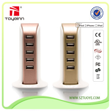 High Quality Good Price 5 USB Ports Multi Charger For IPHONE/SAMSUNG/IPAD