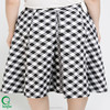 100% Cotton Women Big Pleats Skirts High Waist Skirt