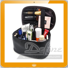 Leather Cosmetic Bag Travel Makeup Organizer Bag Train Case