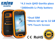 4.3 inch ip68 MTK6589 1.2GHZ shockproof big touch screen waterproof phone