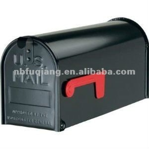 FQ-601 American style metal mailbox, outdoor US mailbox, American post box
