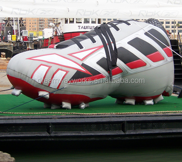 2017 Hot sale giant inflatable shoe, inflatable sneaker, inflatable running shoes for advertising