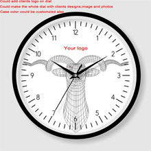 Wholesale cheap price customized futuristic art painting wall clock