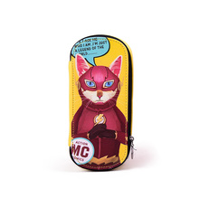 Languo leather pencil case hero cat pencil box