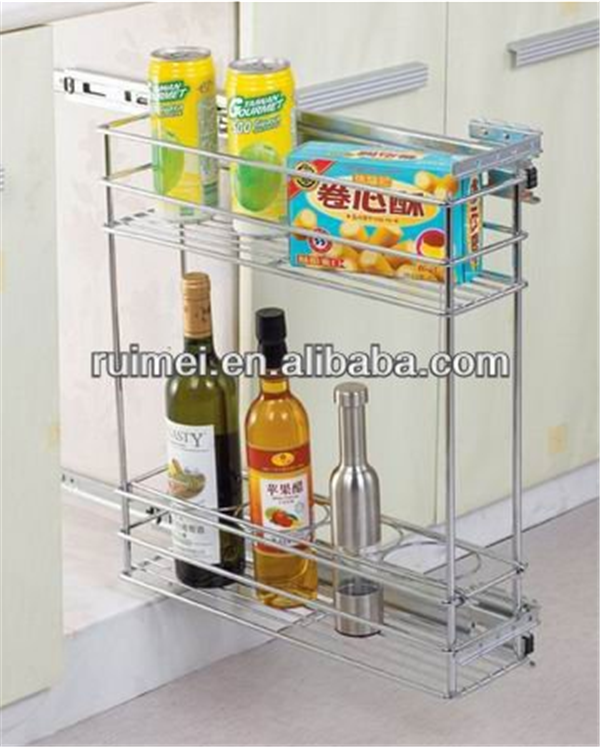 Sliding Metal kitchen Wire Rack And Cabinet Basket