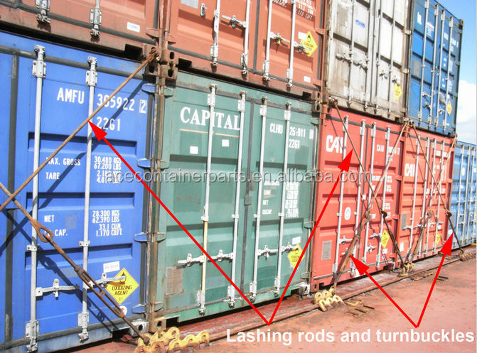Container lashing extension rod view container lashing for Extension en container