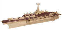 Hot Selling 3D DIY Wooden <strong>Toys</strong>, 3D Puzzle, Ship/Boat Model Aircraft Carrier, Wholesale Available