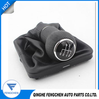 Gear Shift Knob Stick Gaiter Boot for Volkswagen 04 JettaVW Golf 4 With Black Frame Gear Shift Knob Cover