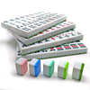 Multicolor Graphics 144 Mini Mahjong Tiles Set with Black PVC Case