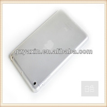 Silicone bumper for ipad mini,Transparent TPU cover for ipadmini case