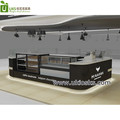 Custom arcuate shape food prepare counter table display stand for food store