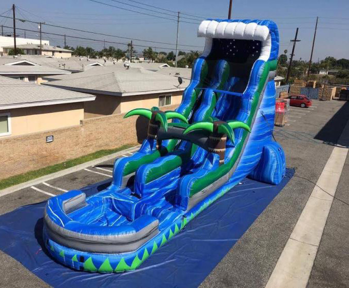 New design inflatable surfing slide for wholesales