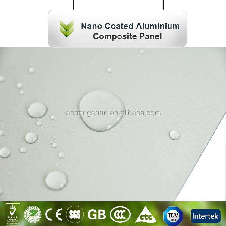 Hot sale newly nano aluminum composite plastic panel, building finish material