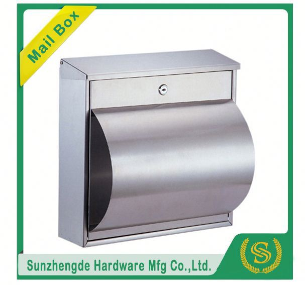 SMB-011SS Decorative Stainless Steel Locking Outdoor Mailbox Lowes