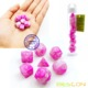 Bescon Mini Gemini Two Tone Polyhedral RPG Dice Set 10MM, Small Mini RPG Role Playing Game Dice D4-D20 in Tube, Pink Blossom