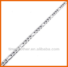High Polished Stainless Steel Figaro NK 3:1 Chain Necklace