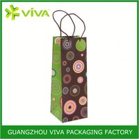Luxurious Paper reusable wine bag in box dispenser with tap