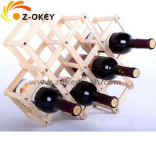 Of the economical type Wood wine carrier high quality for 7 bottles