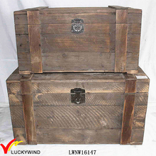 handmade reclaimed natural finish antique wood trunk