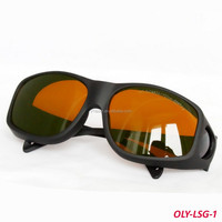 CE Laser Safety Glasses protect190-540& 800-2000nm O.D> 4 CE with black frame (OLY-LSG-1-9)