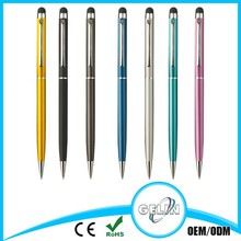 Capacitive touch screen pen with ball pen