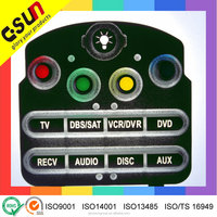 Reliable Supplier mobile remote custom made silicone cap button rubber keypad