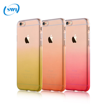 Vouni high quality rainbow soft TPU case for iPhone 6S,gradient color 0.5mm TPU case for iphone 6S back cover wholesale